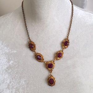 Vintage Stauer Palio Natural Ruby Necklace